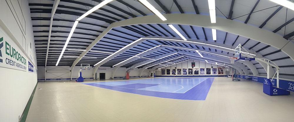 Sportcentrum De Schaapskooi met ruim 500lux klaar voor het nieuwe basketbalseizoen