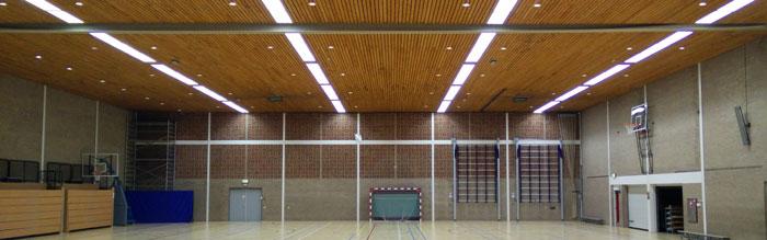 Besparing door renovatie naar Led TL verlichting sporthal